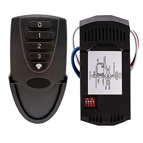 Kit de mando a distancia universal para ventilador de techo y receptor de repuesto de Hampton Bay Harbor Breeze Hunter, negro