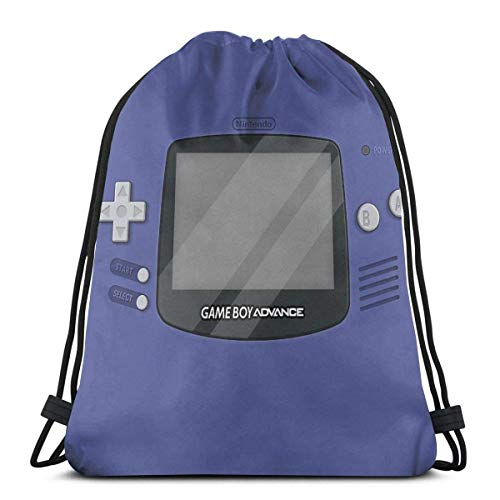 Gameboy Advance Sac à dos de sport avec cordon de serrage Indigo