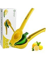 HomeTeck® Citroenpers, 2 in 1 Sinaasappelpers Handmatige Limoenpers Citruspers, Aluminiumlegering, BPA-vrij, Vaatwasmachinebestendig.