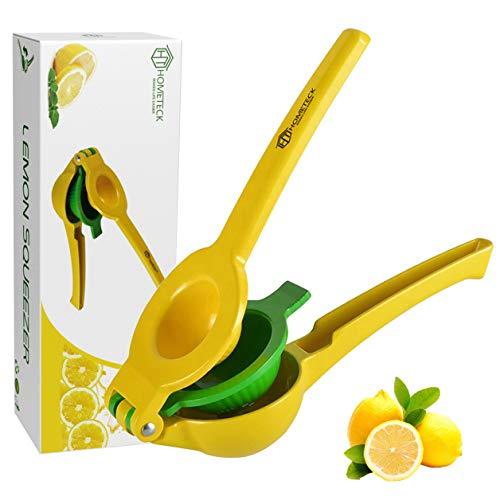 HomeTeck® Exprimidor de Limón 2 EN 1, Exprimidor de Naranja Manual Exprimidor de Cítricos, Aleación de Aluminio, Sin BPA, Apto Para Lavavajillas.