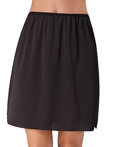 Kate Kasin dames goede elastische band satijn bestendig onderrok half slip ondergoed petticoat 265
