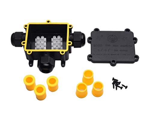 YS Abzweigdose Verteilerdose IP68 Wasserdicht Klemmdose Draussen/Externe3-Wege-Kabelverbinder Verbindungsdose Außenverteilerdose für Kabeldurchmesser Ø4mm-14mm