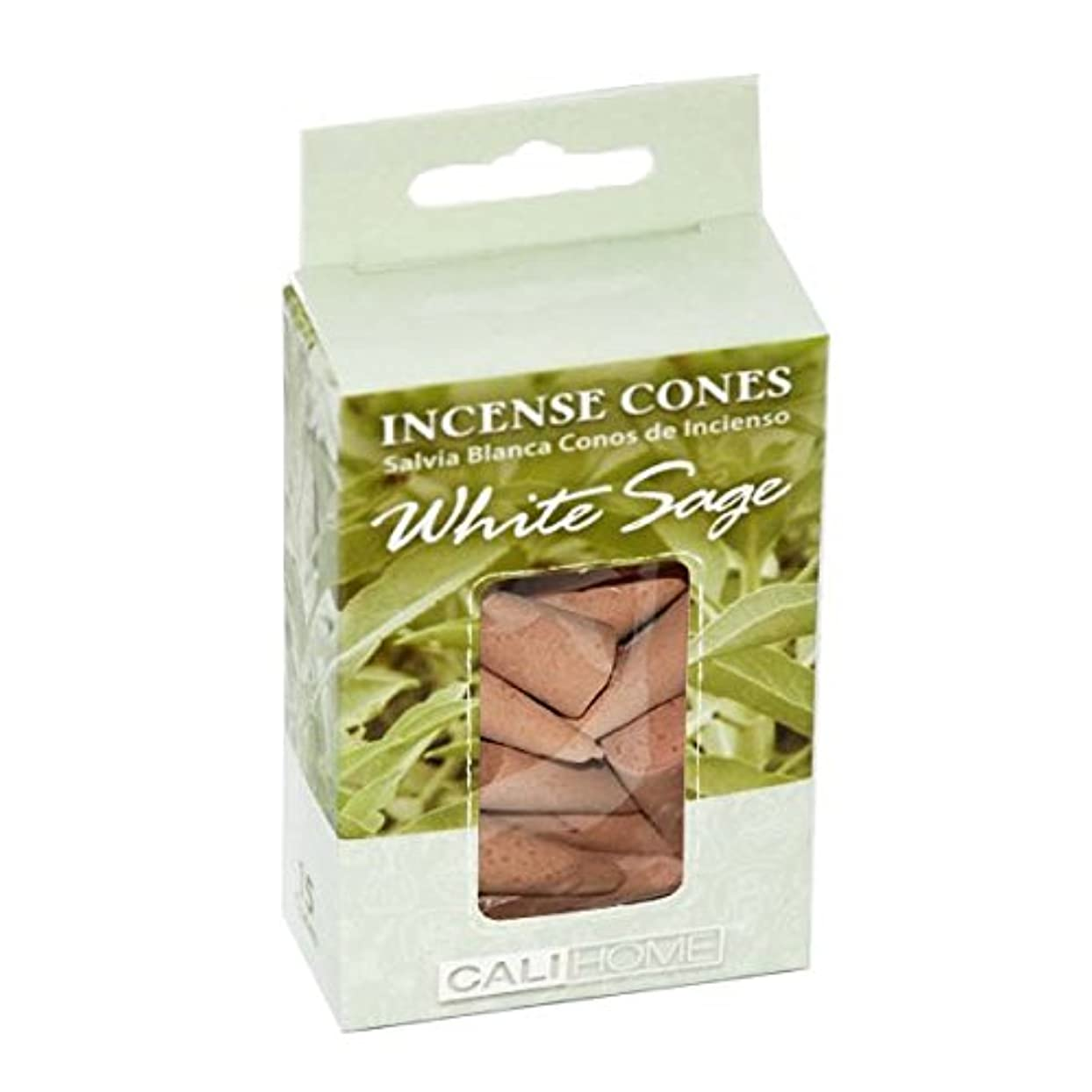 時代分子楽観的Dollaritemdirect cali-home Incense Conesホワイトセージ15?ct,ケースof 48