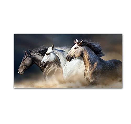 zhaoyangeng The Running Horse Canvas Art Dieren Muurkunst Poster Afbeeldingen voor de woonkamer Wall Canvas Print Schilderen 40X80 cm Geen lijst