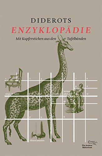 Diderots Enzyklopädie: Mit Kupferstichen aus den Tafelbänden (Foliobände der Anderen Bibliothek, Band 13)