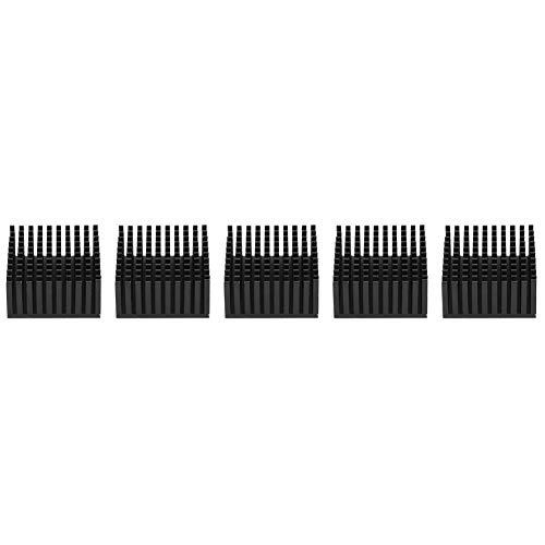 Kühlkörper Motherboard CPU-Kühler Langlebigkeitskühler Himbeere für Himbeer-Pi(Black)