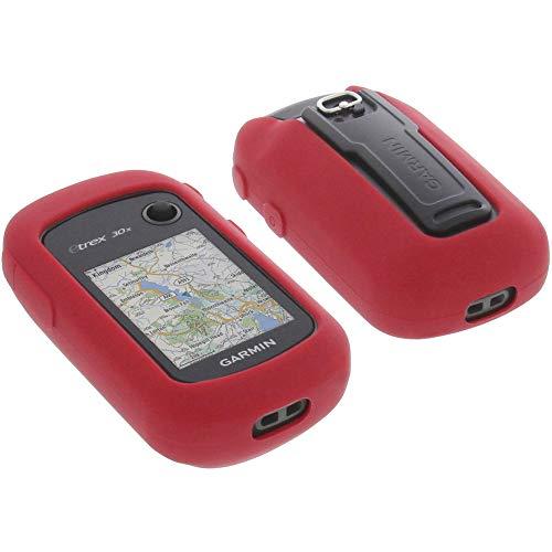 foto-kontor Funda para Garmin eTrex 30x Protectora Silicona Carcasa protección roja