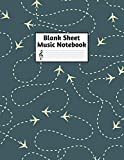 Blank Sheet Music Notebook: Easy Blank Staff Manuscript Book Large 8.5 X 11 Inches Musician Paper Wide 12 Staves Per Page for Piano, Flute, Violin, ... other Musical Instruments - Code : A4 8251