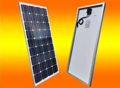 bau-tech Solarenergie 130 Watt 12V Solarmodul Monokristallin -...