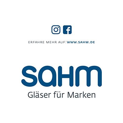 Sahm Biergläser Set 6 STK. | 420ml Bier Sensorik Pokal | Spülmaschinenfeste Bier Gläser | Ideales Gourmet Bier Geschenk | Tolle Craft Beer Gläser - 6