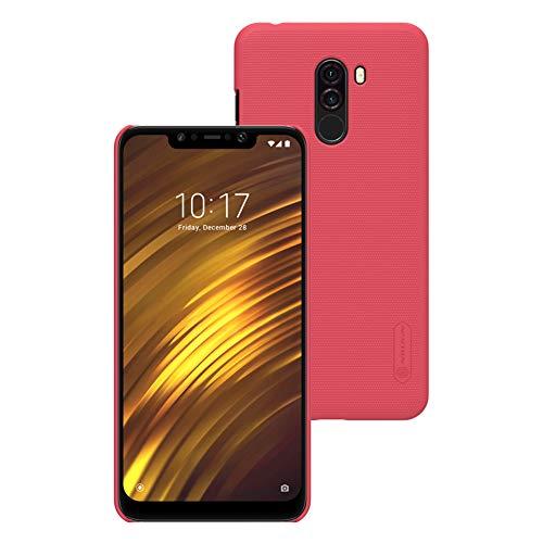Xiaomi Pocophone F1,Xiaomi Poco F1 6.18' Cover Custodia,XunEda Ultra Sottile Finitura Opaca Anti-scivolo Protettiva Custodia in Plastica Rigida con Free Stand per Xiaomi Pocophone F1 (Rosso)