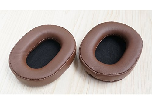 V-MOTA Earpads Leather Cushion Repair Parts Compatible with Audio Technica ATH-MSR7 GM NC Headphones (Brown)