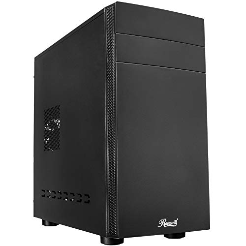 Rosewill Micro ATX Mini Tower Computer Case, Sleek, Simple, Quiet Office Style Desktop PC, Front I/O USB 3.0 - FBM-06