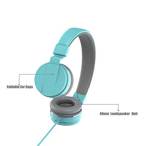On Ear Headphones, Marvotek Stereo Headphones for Girls Wired Headphones with Mic Foldable Headphones Lightweight Headphones for Kids Photo #7