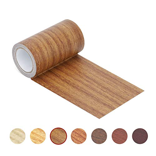 Repair Tape Patch 2.4' X15' Wood Textured Adhesive for Door Floor Table and Chair (Antique Oak)