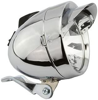 Bullet Light W/Visor 2/Bulb Chrome. Bike light, bicycle light, lowrider , beach cruiser, chopper, limo, stretch bike, bmx, track, fixie