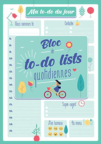 Ma to-do list du jour 2021 : Bloc de to-do lists quotidiennes