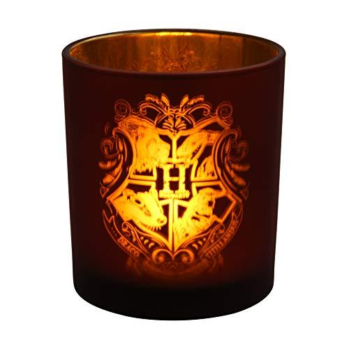 Paladone Hogwarts-Glas-Kerzenhalter, mit batteriebetriebenem Teelicht, offizielles Lizenzprodukt