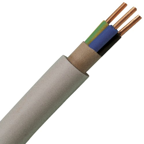 Kopp 153105841 NYM-J 3 x 2,5 mm² Feuchtraum-Kabel, 5 m-Ring