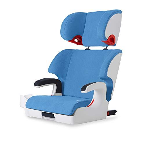 Clek Oobr High Back Booster Car Seat with Rigid Latch, Ten Year Blue (Crypton C-Zero Performance Fabric)