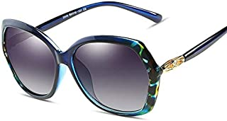 SGJFZD Ladies Trendy Polarized Sunglasses Large Frame Elegant Sunglasses Quality Polarized Sunglasses Outdoor Seaside Sunscreen UV400 (Color : Blue)