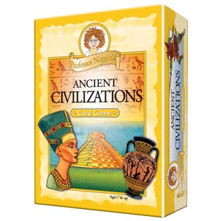 Professor Noggin's Ancient Civilizations - Educational Trivia Card Game for Kids - 180 Questions - Ages 7+