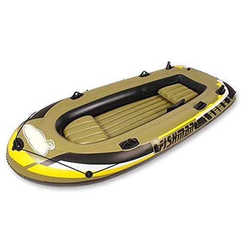 Schlauchboot Faltkajak Outdoor Beiboot Komfortable Kajakfahren Freizeit Faltboot 1-4 Personen Schlauchboot Marine Sport Angeln Abenteuer Dicke PVC Kunststoff 2 Größe Gelb ( Size : 305*136*42cm )