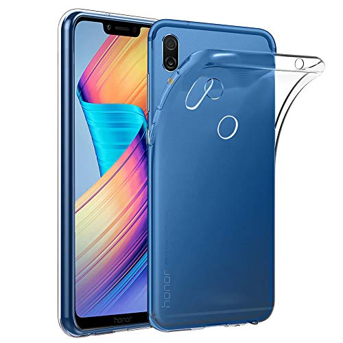 ebestStar - kompatibel mit Huawei Honor Play Hülle Handyhülle [Ultra Dünn], Premium Durchsichtige Klar TPU Schutzhülle, Soft Flex Silikon, Transparent [Phone: 157.9 x 74.3 x 7.5mm, 5.15'']