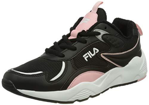 FILA Horizon Run kids zapatilla Unisex niños, negro (Black/Coral Blush), 34 EU