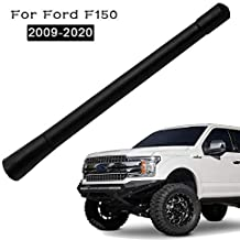KSaAuto Rubber Short Antenna Accessories for Ford F-150 F150 2009 2010 2011 2012 2013 2014 2015 2016 2017 2018 2019 2020 | 7 Inch Flexible Antenna Mast Replacement | Designed for Optimized FM/AM Radio