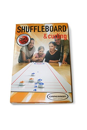 Gamesson Shuffle Board and Curling Spel, uniseks, wit