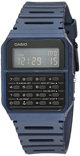 Casio Data Bank Quarzuhr mit Armband aus Kunstharz, blau, 24.1 (Modell: CA-53WF-2BCF)