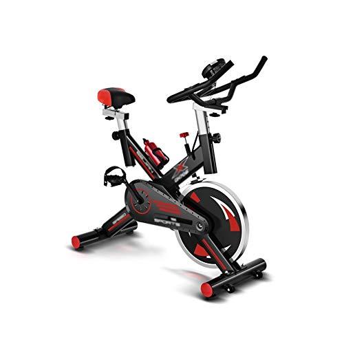XJWWW-URG Bicicletas de ejercicio, bicicletas de ejercicio for interiores, bicicletas de ejercicio profesionales ajustables, manubrios y asientos ajustables, con sensor de ritmo cardíaco y hervidor de