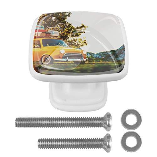 Blanco Perillas Redondas Viaje en coche Tirador de la manija de la perilla del gabinete para los cajones del tocador de la habitación infantil (Tornillos incluidos) 3x2.1x2 cm