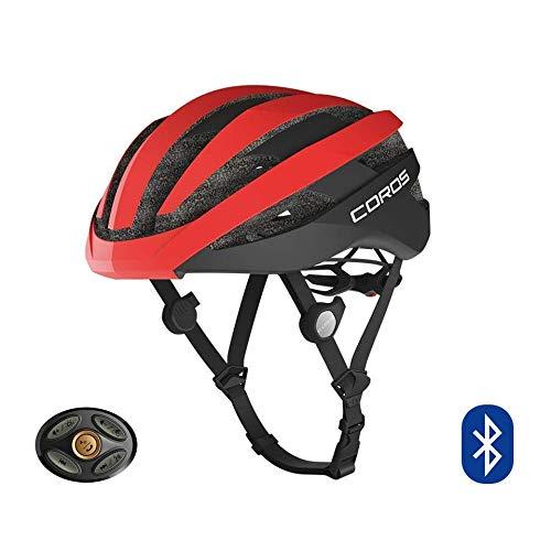 COROS SafeSound - Sistema de sonido para casco de ciclismo con sistema de apertura de orejas,llamadas de teléfono con música Bluetooth, control remoto inteligente, ligero,rojo mate, tamaño M(55-59CM)