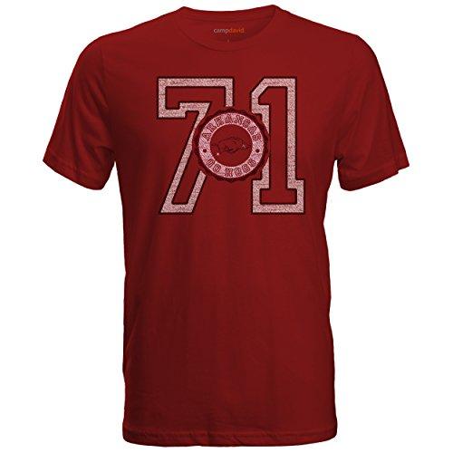 Camp David NCAA Cruiser Herren-T-Shirt mit Rundhalsausschnitt, Herren, Cruiser, rubinrot, Large
