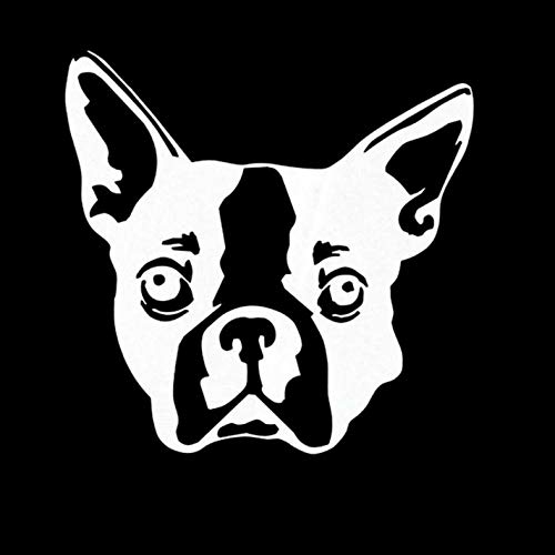 Empty 3 Pcs Car Stickers and Decals 10.2 * 10CM Boston Terrier Dog Waterproof Reflective Decals Car Motorcycles Bike Skateboard Snowboard Luggage Laptop Stickers