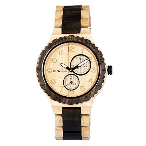 Baoblaze Reloj de Madera Diseño Exquisito Único Universal para Hombre Mujer - A 1