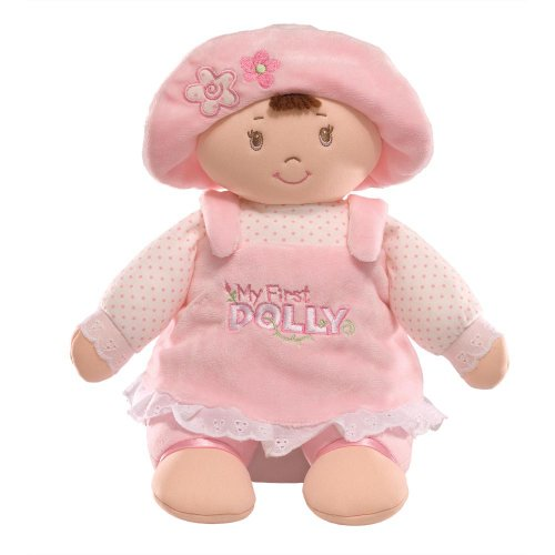 GUND My First Dolly Stuffed Brunette Doll Plush, 13'