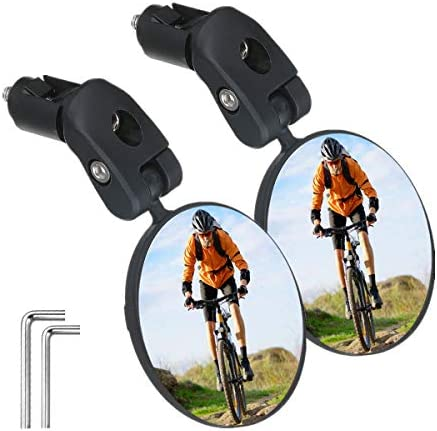 SGODDE Bike Mirror 2pcs Bicycle Cycling Rear View Mirrors Safe Rearview Mirror Adjustable Handlebar product image