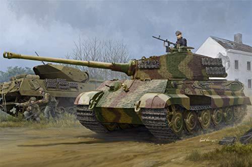 Hobby Boss 084531 Pz.Kpfw.VI Sd.Kfz.182 Tiger II (Henschel 1944 Production) w/Zimmerit Plastikmodellbausatz, Farbig