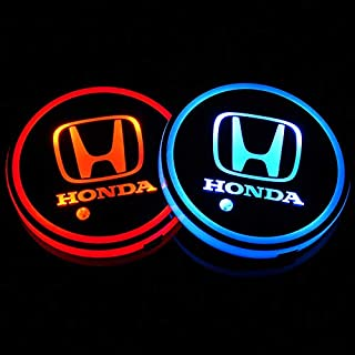 Auto Sport 2PCS LED Cup Holder Mat Pad Coaster with USB Rechargeable Interior Decoration Light Fit Ho-nda Accessories
