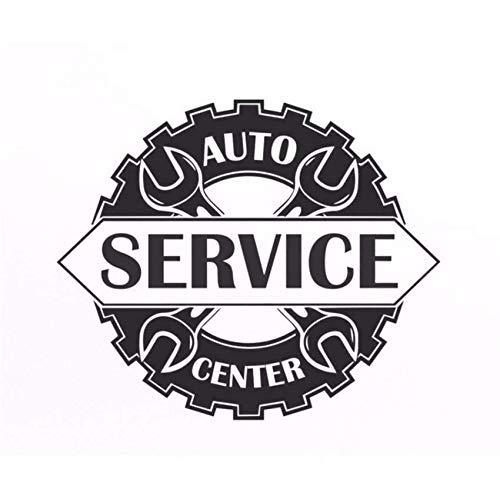Car Service Center Schild Fensteraufkleber Vinyl Aufkleber Reparatur Bushaltestelle Schild Garage Wanddekoration Abnehmbarer Kunst Aufkleber 67 * 56 Cm