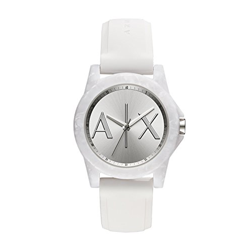 Armani Exchange Women's White Silicone Watch