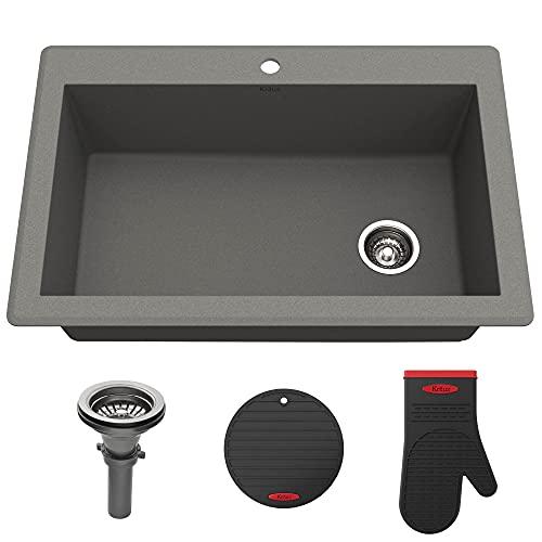 Kraus KGD-54GREY Forteza Granite Kitchen Sink