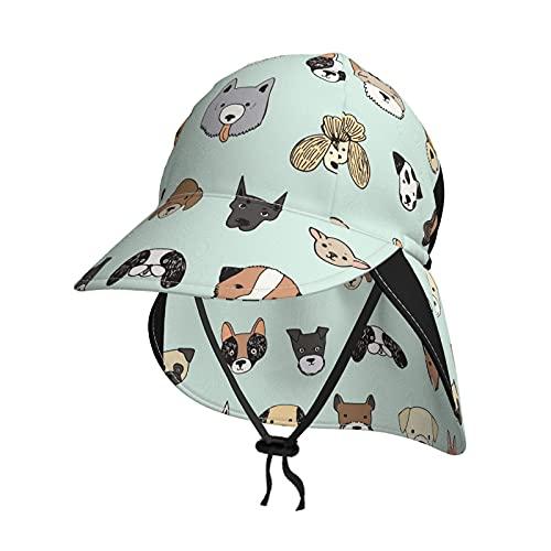 Baby Sonnenhut Süße Hunde Kopf Sommer Klappe Abdeckung Kappe für Kleinkind Säugling Jungen Mädchen Sonnenschutz Sportlich Hut Gr. 2-4 Jahre, Schwarz
