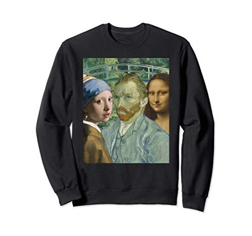 Arte popular Johannes Vermeer Leonardo Da Vinci Van Gogh's Sudadera