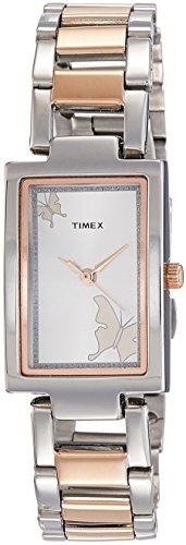 Timex - Reloj analógico para mujer, esfera de plata, reloj TWEL11302