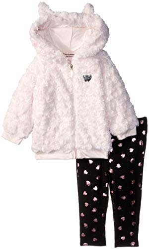 Juicy Couture Baby Girls 2 Pieces Jacket Set-Faux Fur