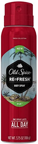 Old Spice Fresh Collection Body Spray, Fiji, 3.75 oz (Pack of 12)